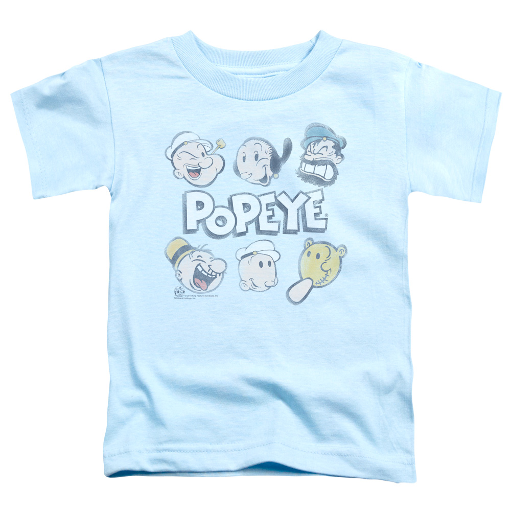 Popeye Heads Up Toddler T-Shirt