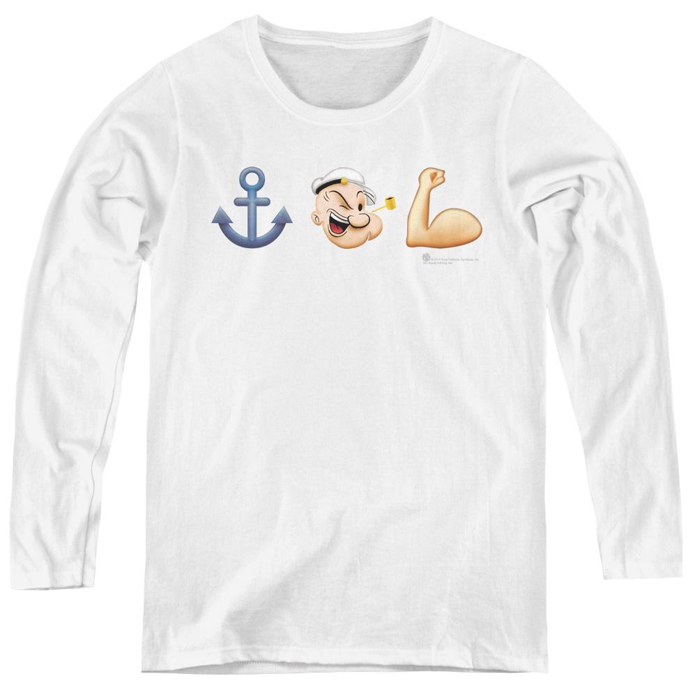 Popeye Emoji Women's Long Sleeve Shirt