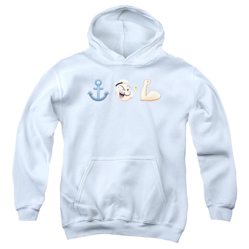 Popeye Emoji Kids Hoodie