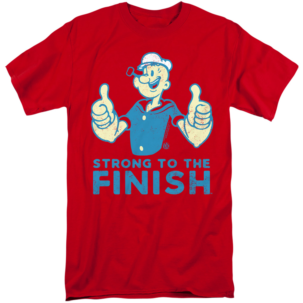 Popeye Cartoon Popeye/'s Gym Strong to the Finish Tee Shirt Adult Sizes S-3XL