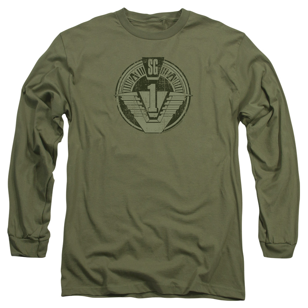SG1 Distressed Stargate Logo Long Sleeve Shirt