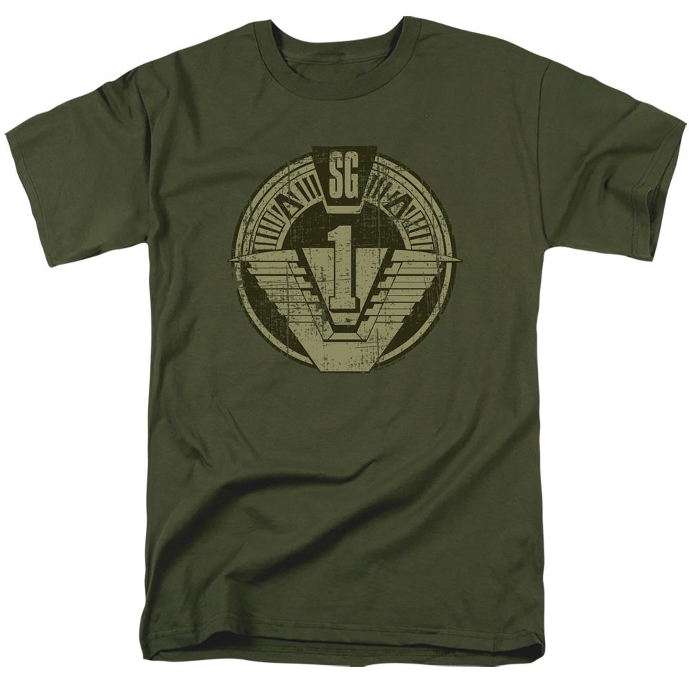 SG1 Distressed Stargate Logo T-Shirt