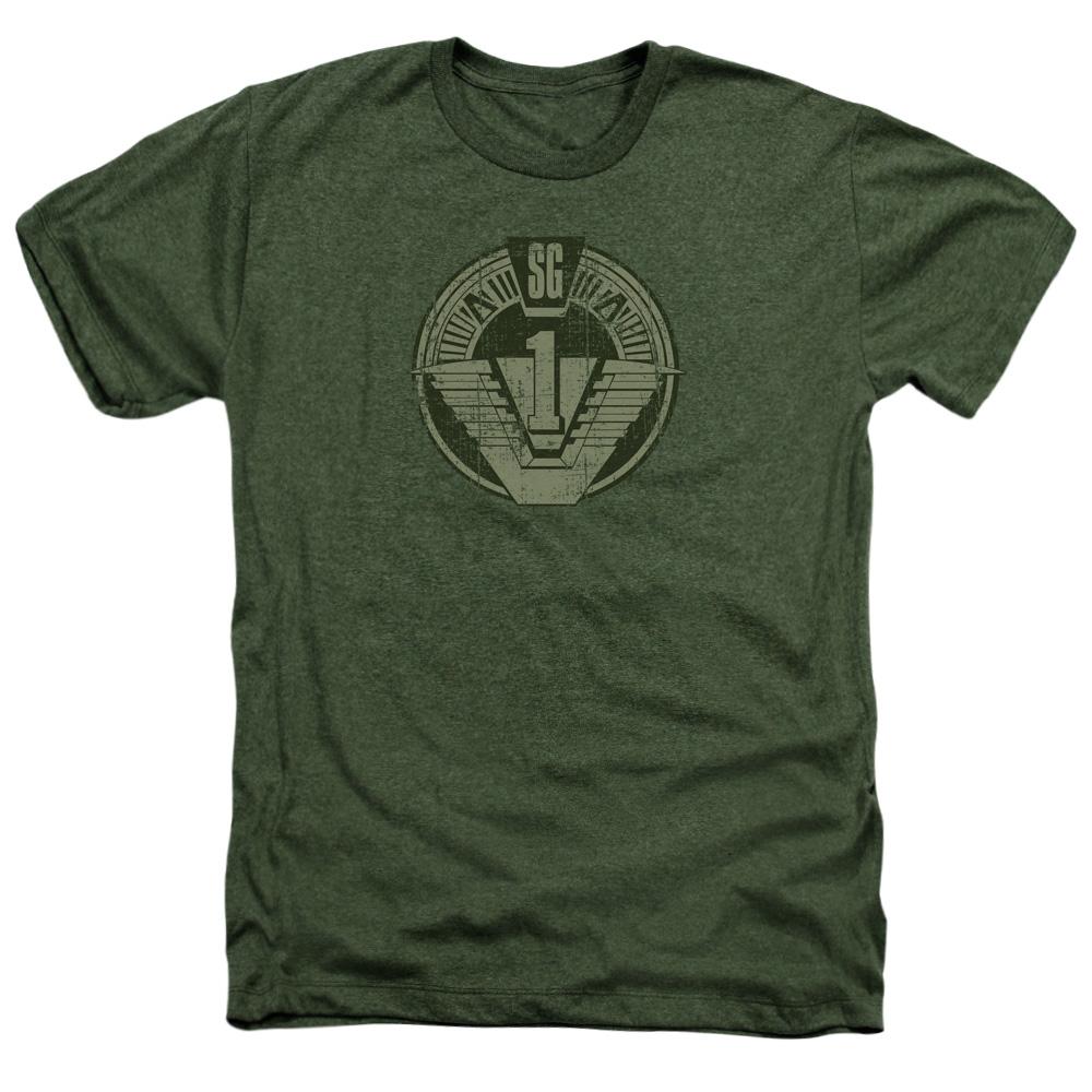 SG1 Distressed Stargate Logo Heather T-Shirt