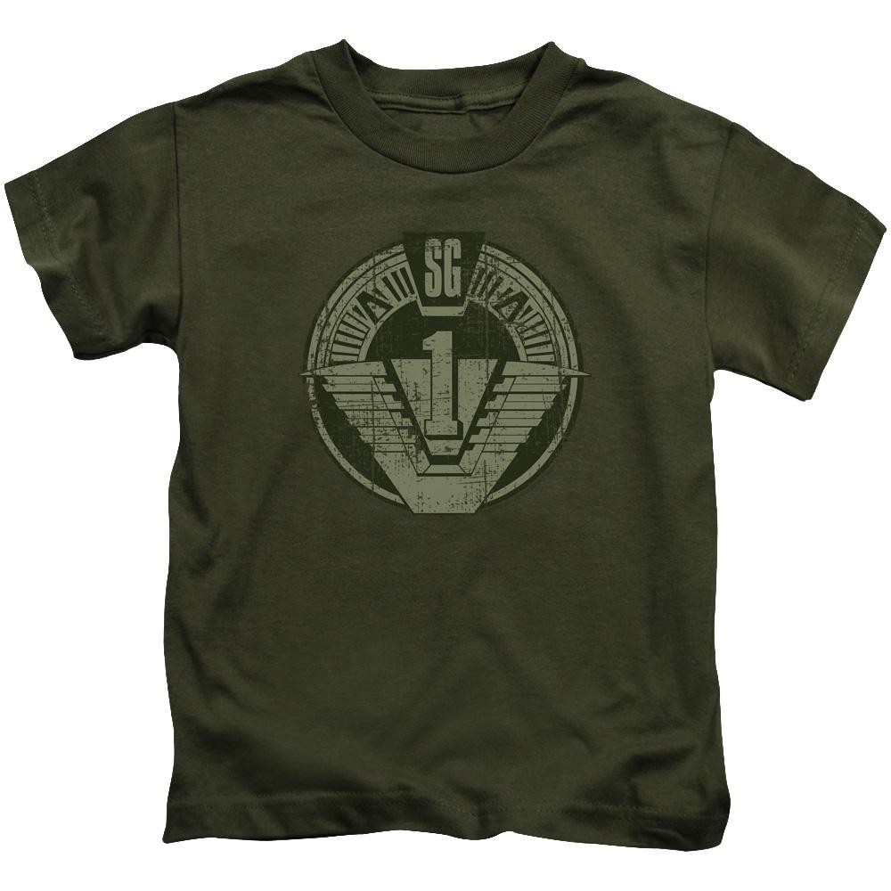 SG1 Distressed Stargate Logo Juvy T-Shirt