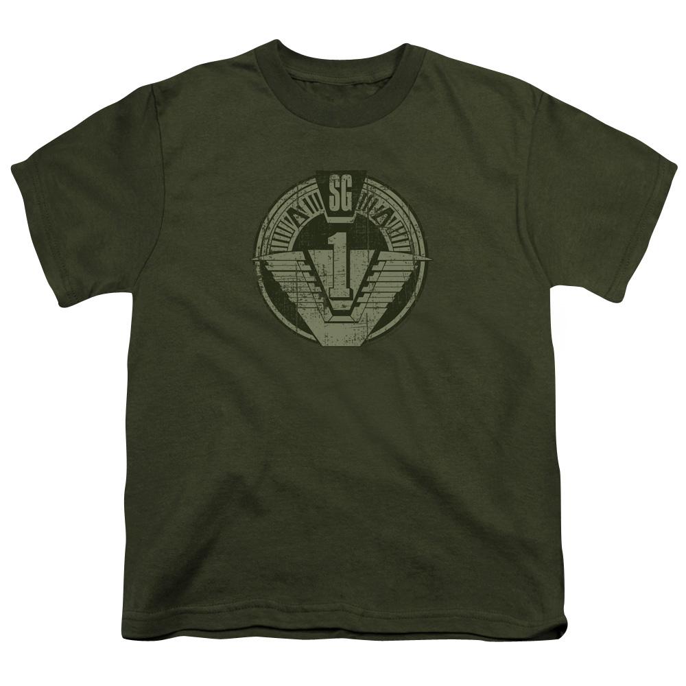 SG1 Distressed Stargate Logo Kids T-Shirt