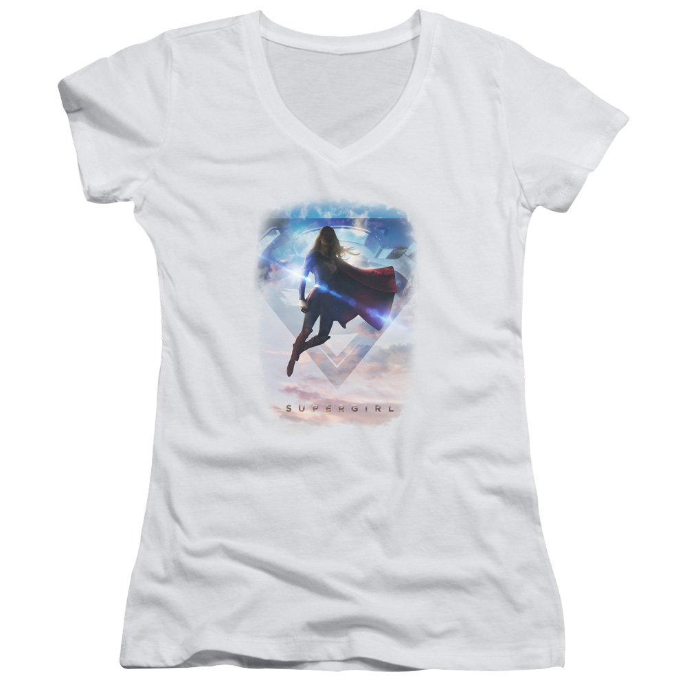 Supergirl TV Series - Endless Sky Juniors V-Neck T-Shirt