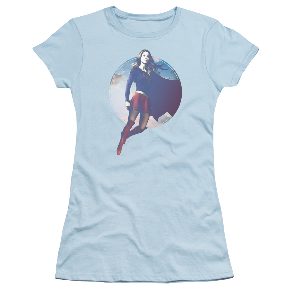 Supergirl TV Series - Cloudy Circle Junior Fit T Shirt