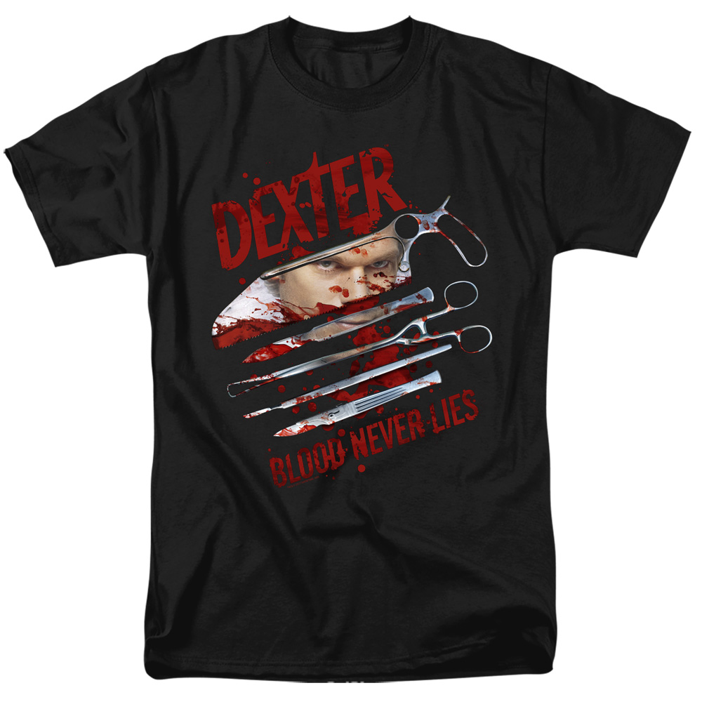 Dexter Blood Never Lies Tools T-Shirt