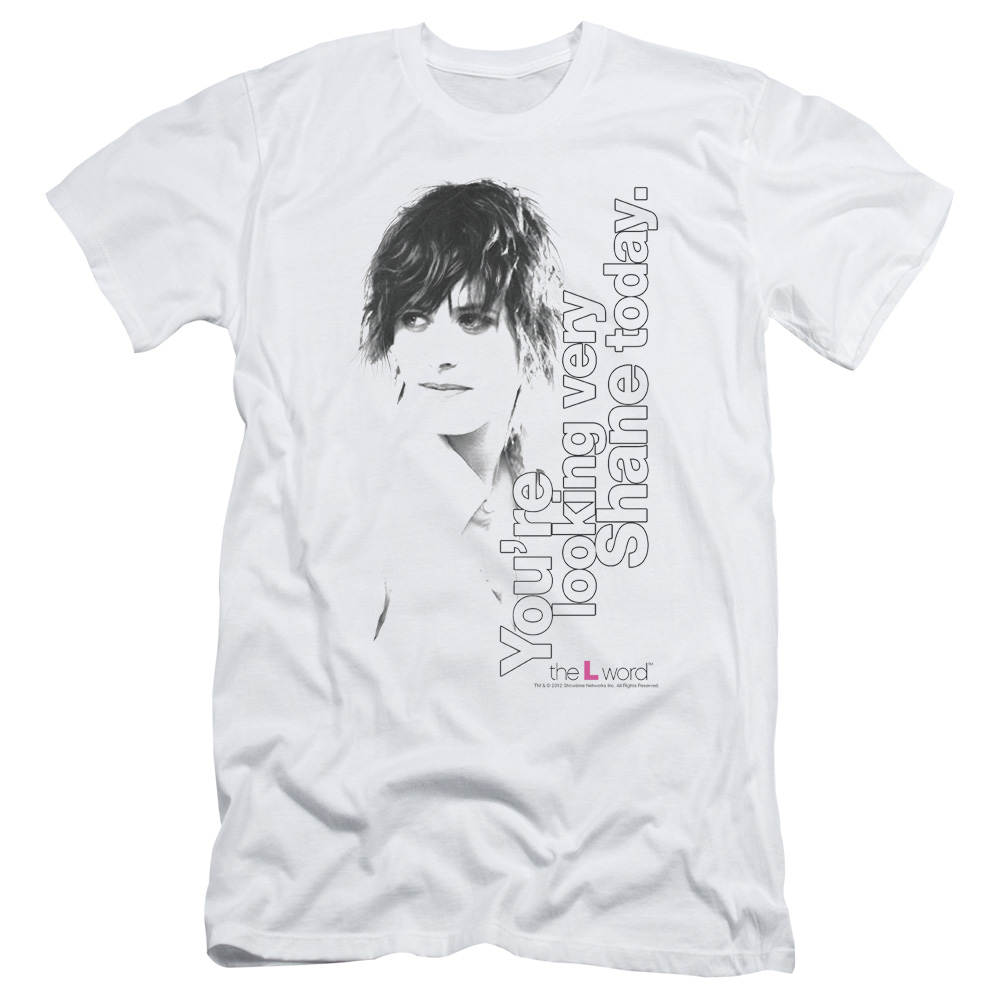The L Word - Sowtime - Looking Shane Today Slim Fit T-Shirt