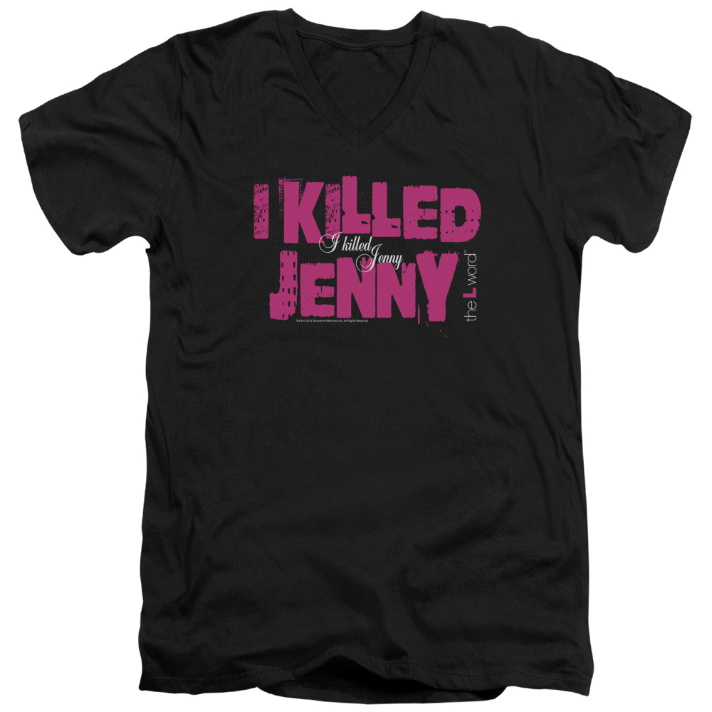 The L Word - Sowtime - I Killed Jenny V-Neck T-Shirt