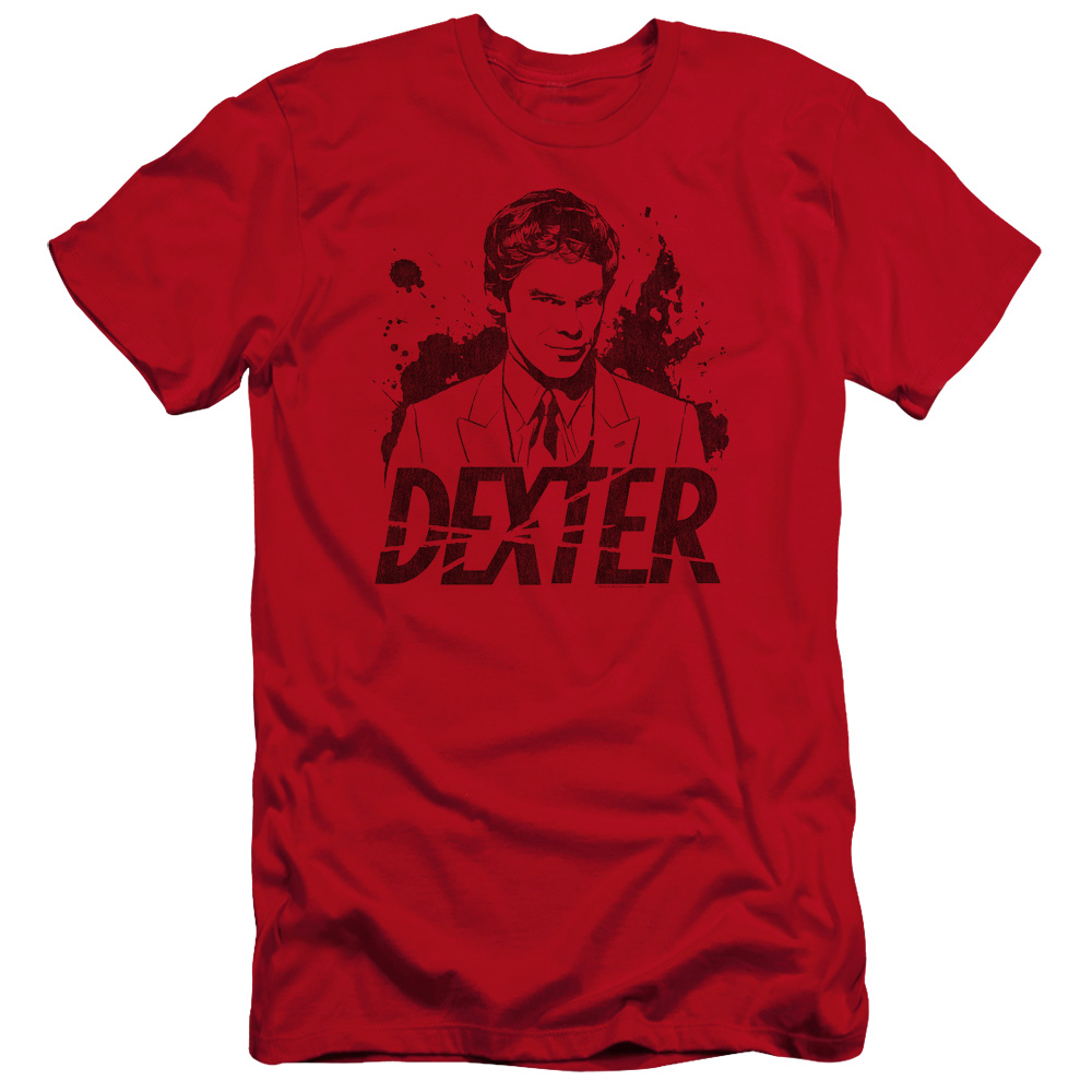 Dexter Splatter Dex Premium Slim Fit T-Shirt