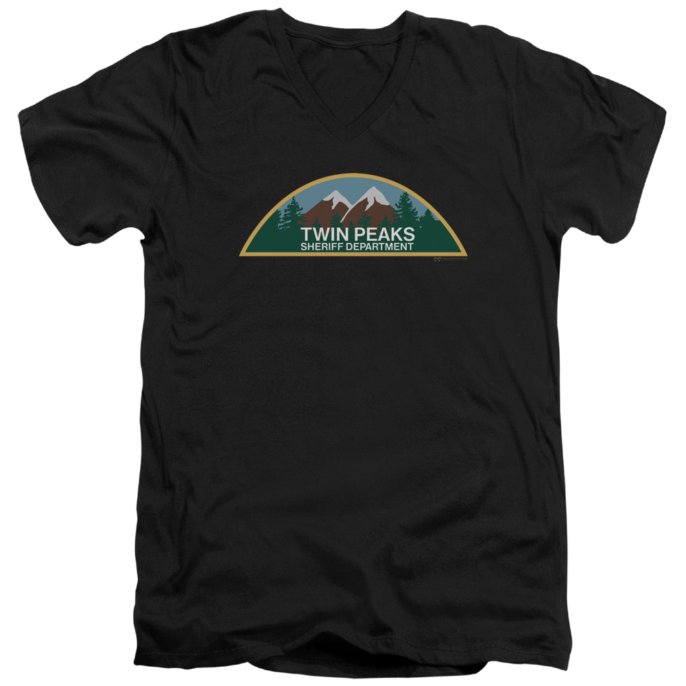 Twin Peaks - Sherrif Department V-Neck T-Shirt