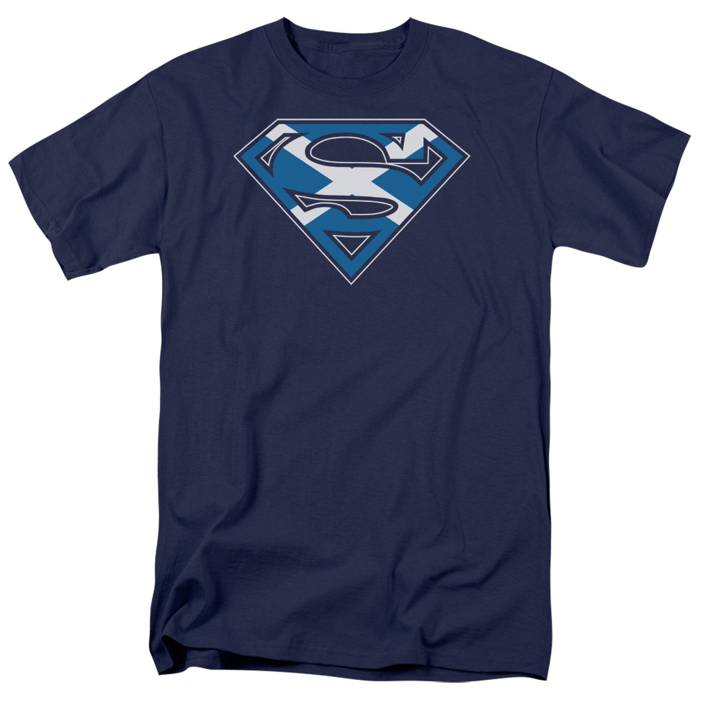 Superman LITTLE LOGOS Licensed Adult Long Sleeve T-Shirt S-3XL