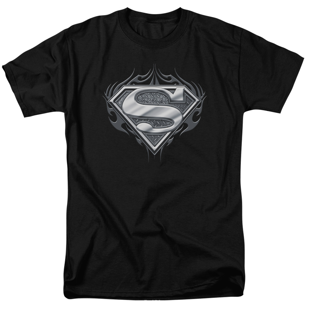 Superman MAN OF STEEL SHIELD Licensed Adult Long Sleeve T-Shirt S-3XL