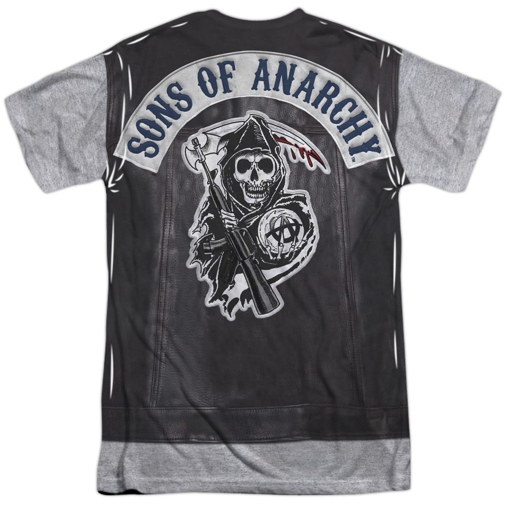 sons of anarchy soa unholy costume 2 sided sublimation. Black Bedroom Furniture Sets. Home Design Ideas
