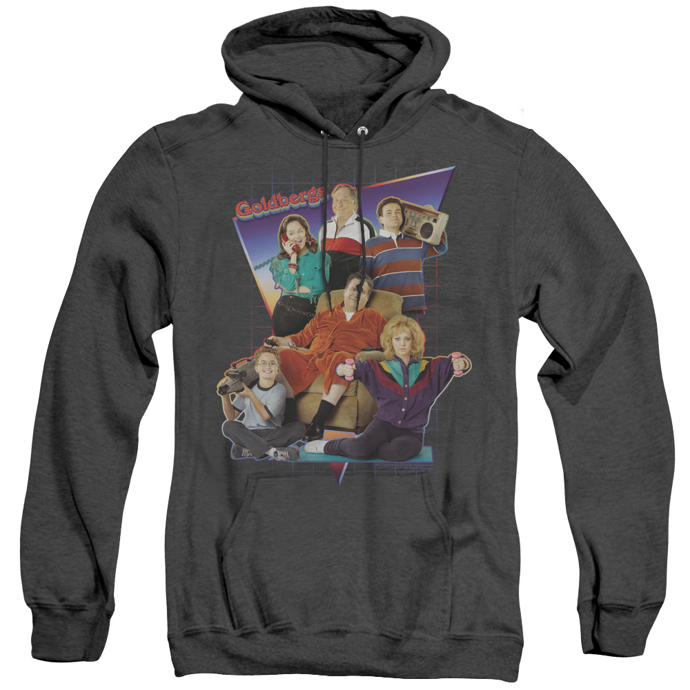 Goldbergs Totally Rad Family Adult Heather Hoodie