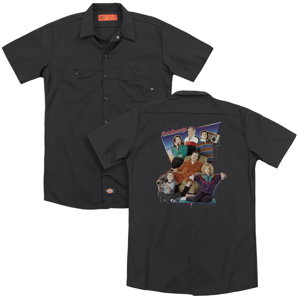 Goldbergs Totally Rad Family Work Button Up Shirt