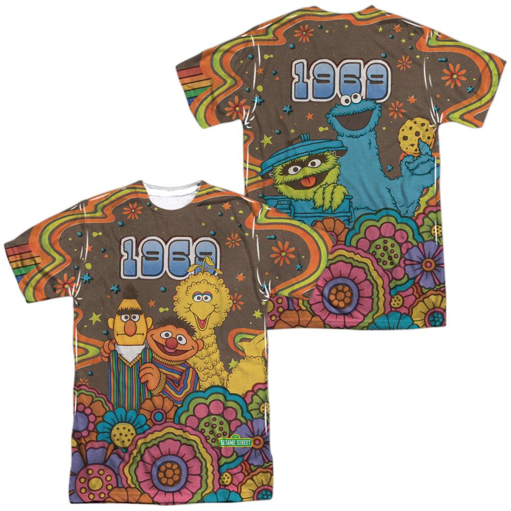 Block Party Adult Long Sleeve T-Shirt Sesame Street