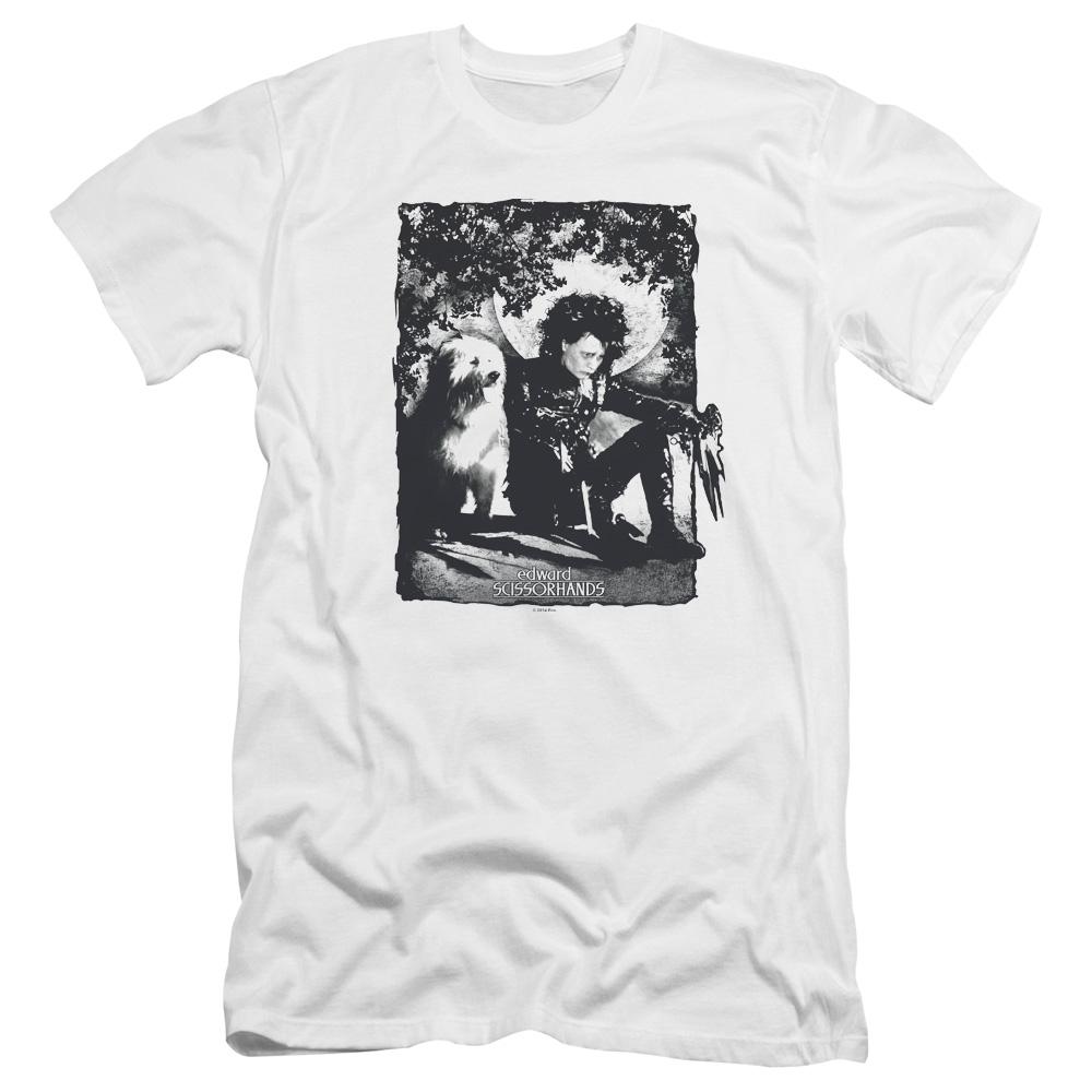 Edward Scissorhands Lucky Dog Premium Slim Fit T-Shirt
