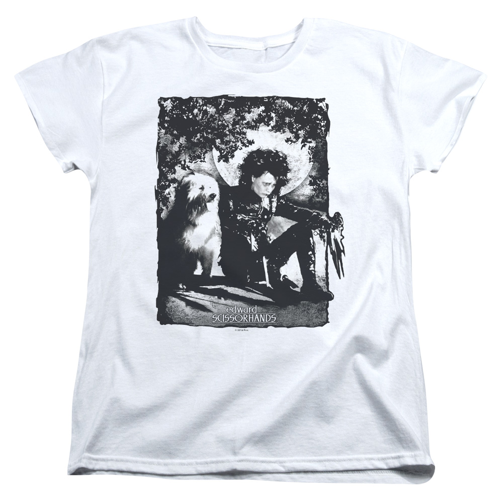 Edward Scissorhands Lucky Dog Women's T-Shirt