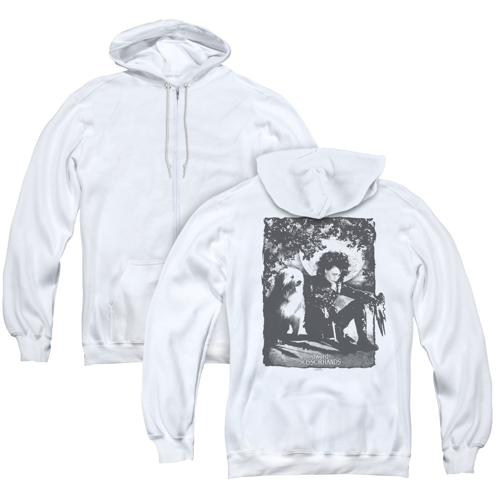 Edward Scissorhands Lucky Dog Adult Zip Hoodie