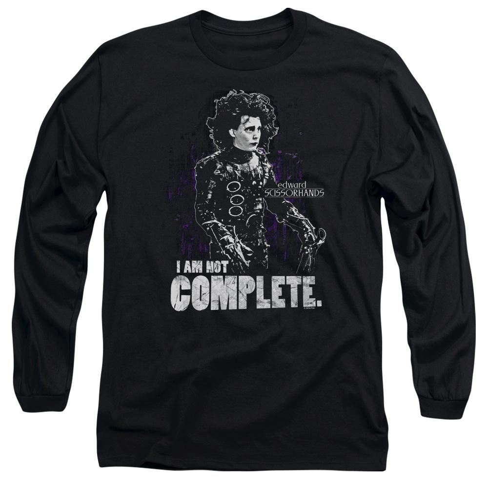 I Am Not Complete Edward Scissorhands Long Sleeve Shirt