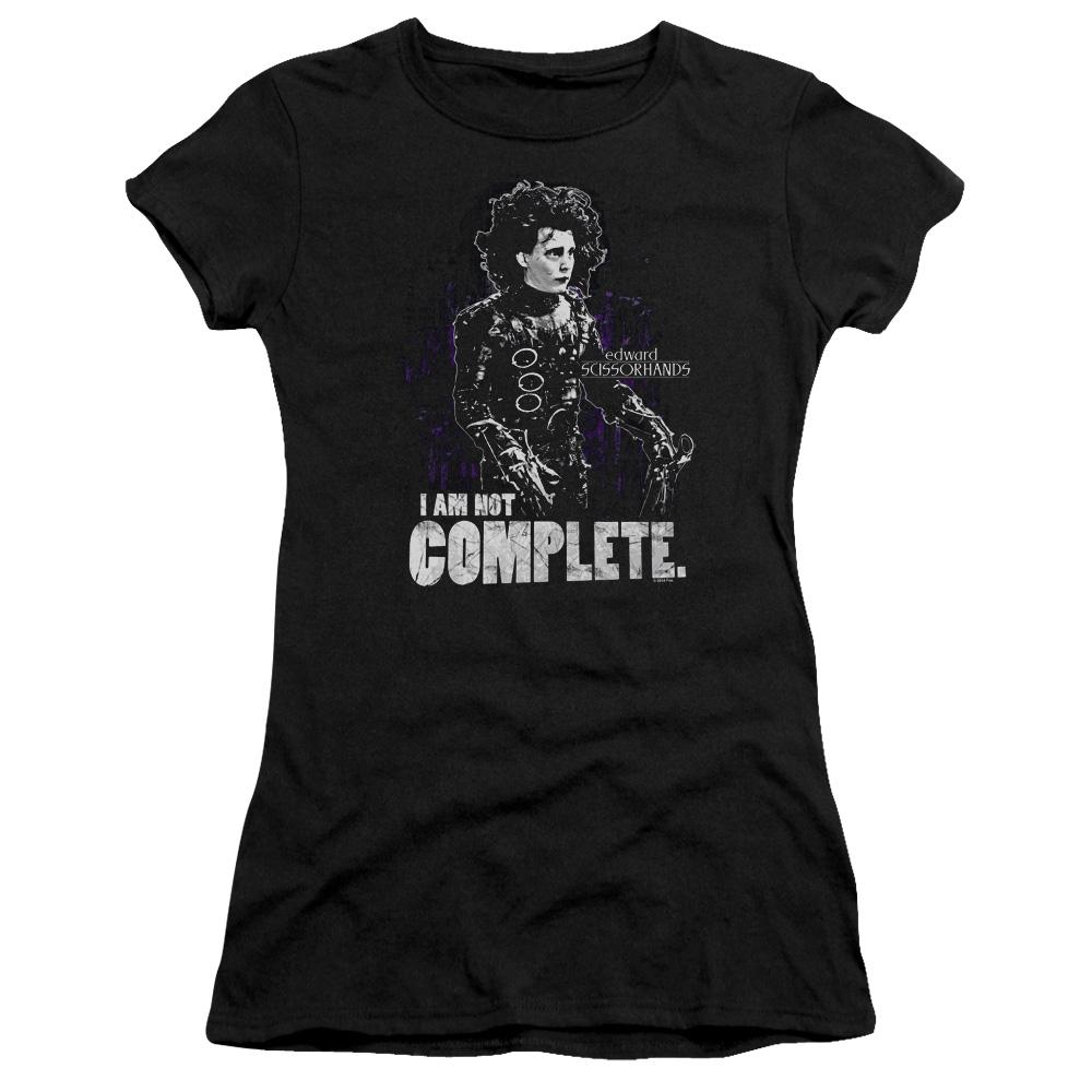 I Am Not Complete Edward Scissorhands Junior Fit T Shirt