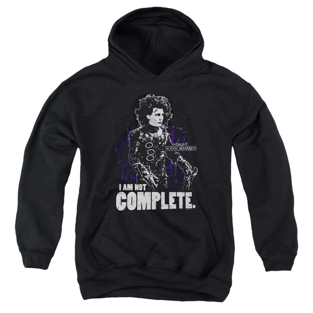 I Am Not Complete Edward Scissorhands Kids Hoodie