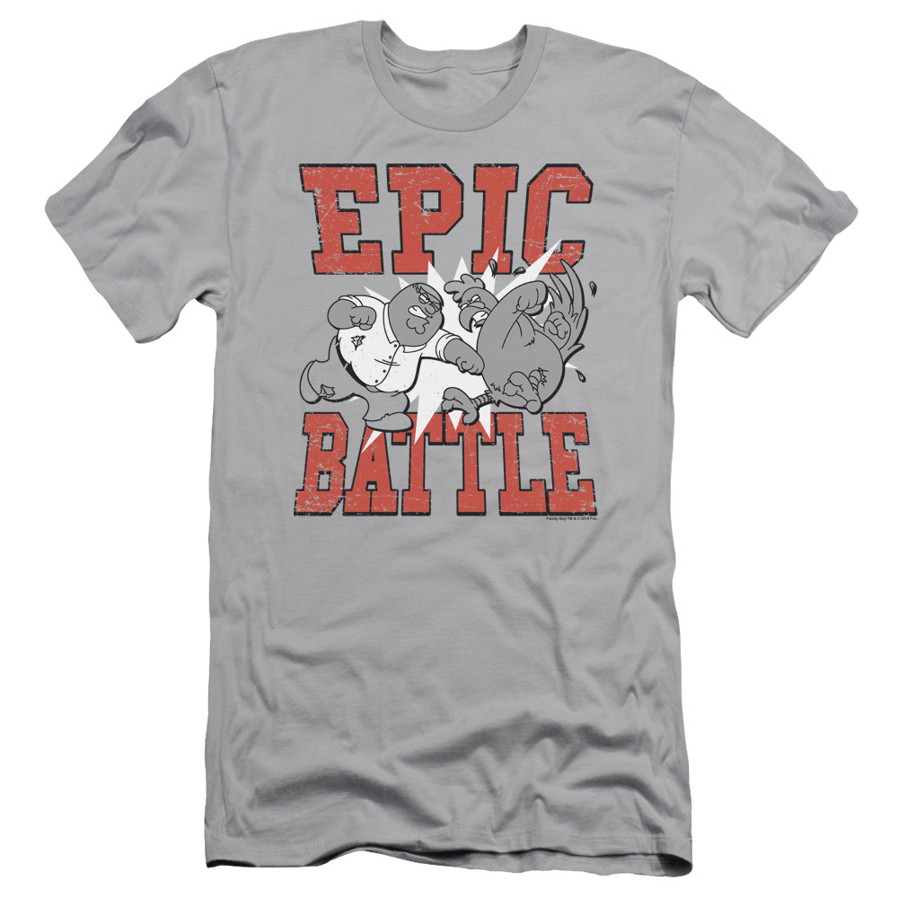 Family Guy Peter's Epic Battle Slim Fit T-Shirt