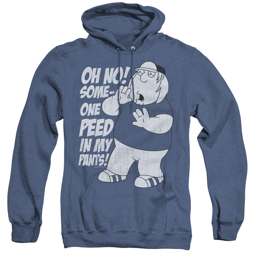 Family Guy Oh No! Someone Peed in my Pants! Adult Heather Hoodie
