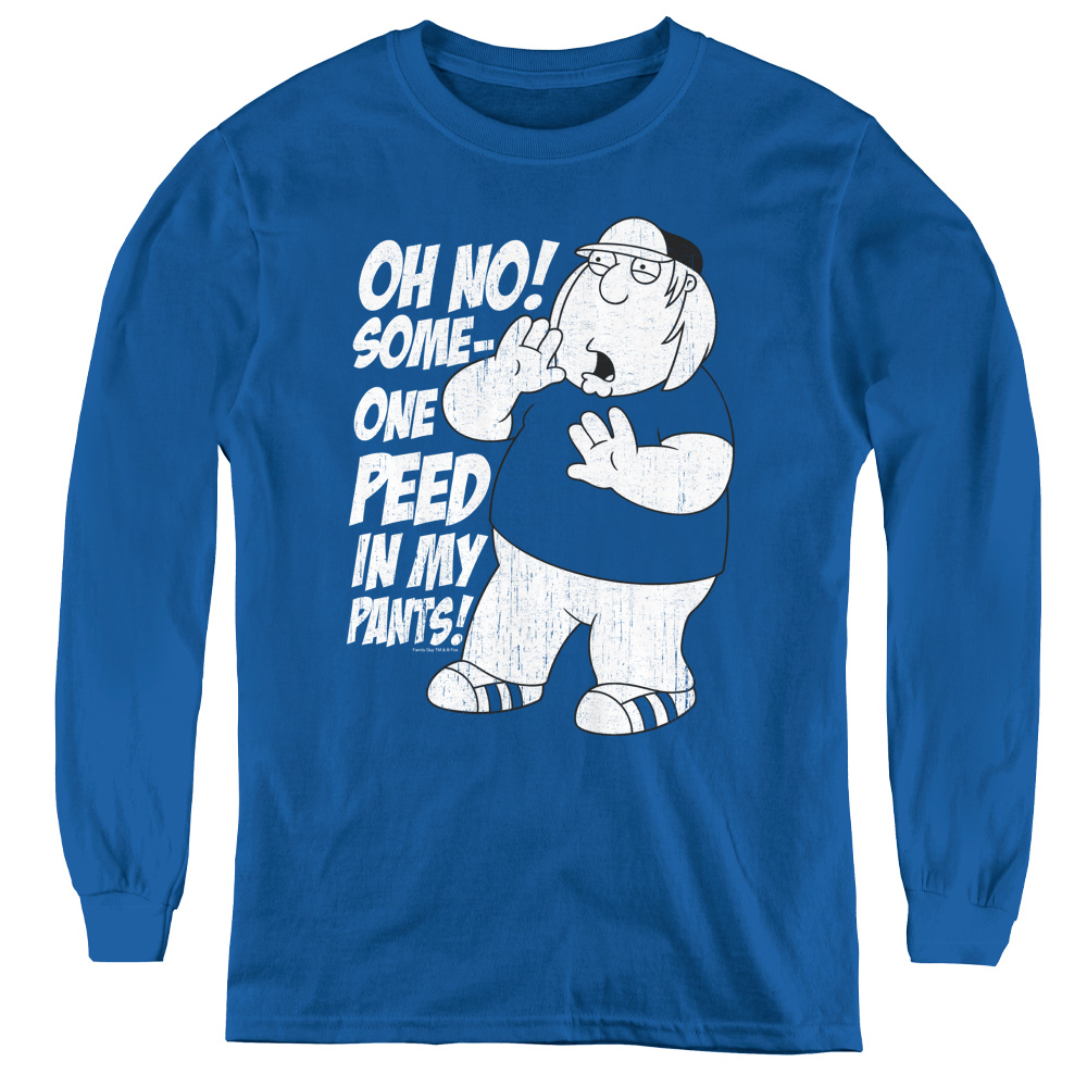 Family Guy Oh No! Someone Peed in my Pants! Kids Long Sleeve Shirt