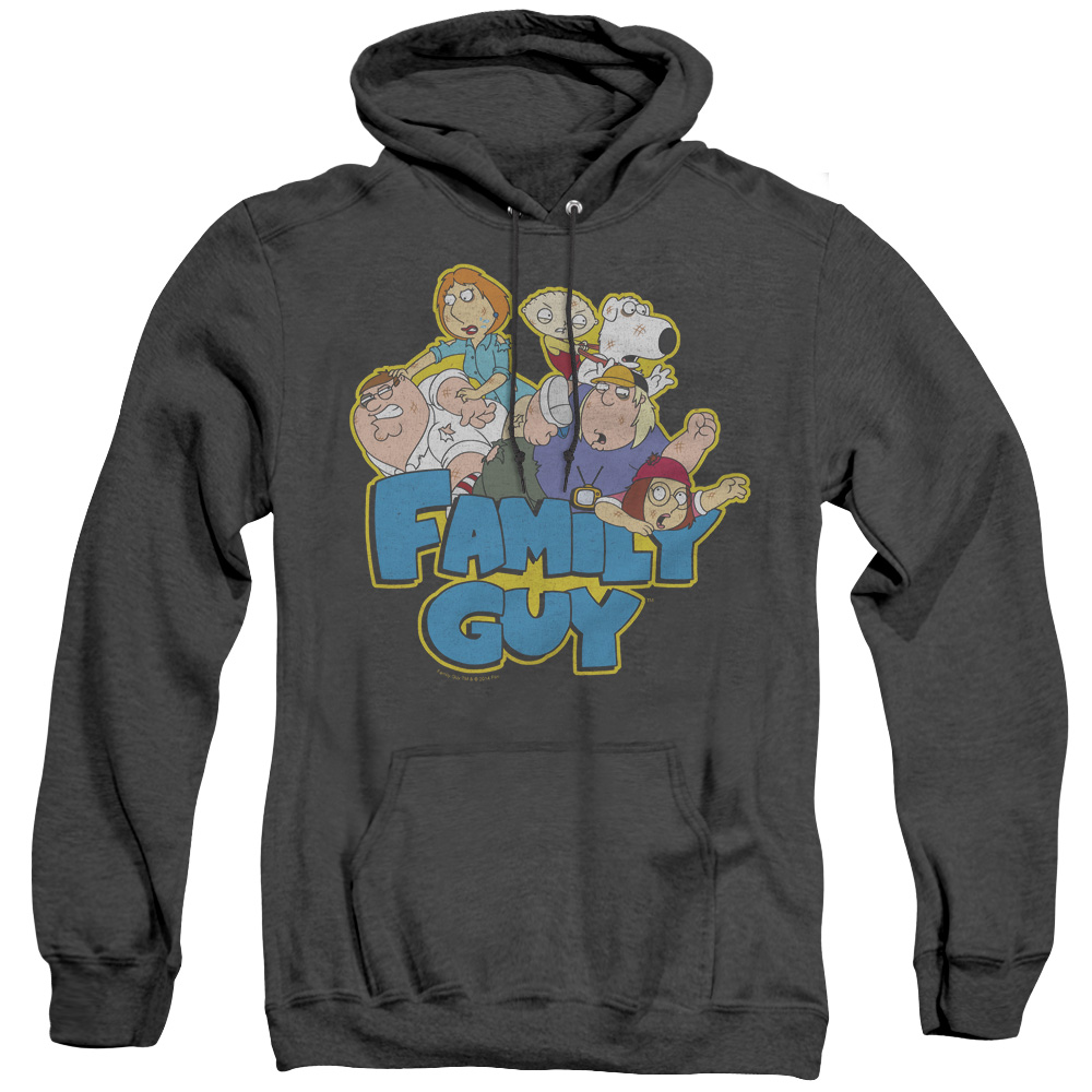 Family Guy Character Family Fight Logo Adult Heather Hoodie