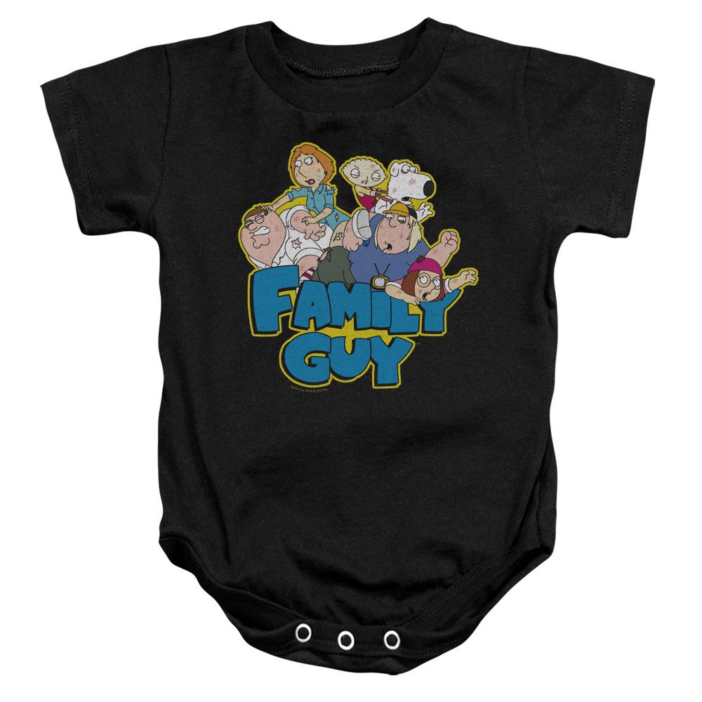 Family Guy Character Family Fight Logo Baby Bodysuit