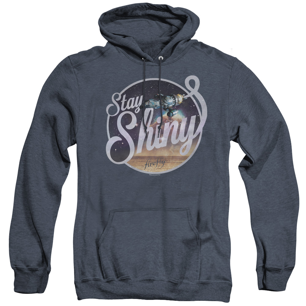 Firefly Stay Shiny Blue Sun Logo Adult Heather Hoodie