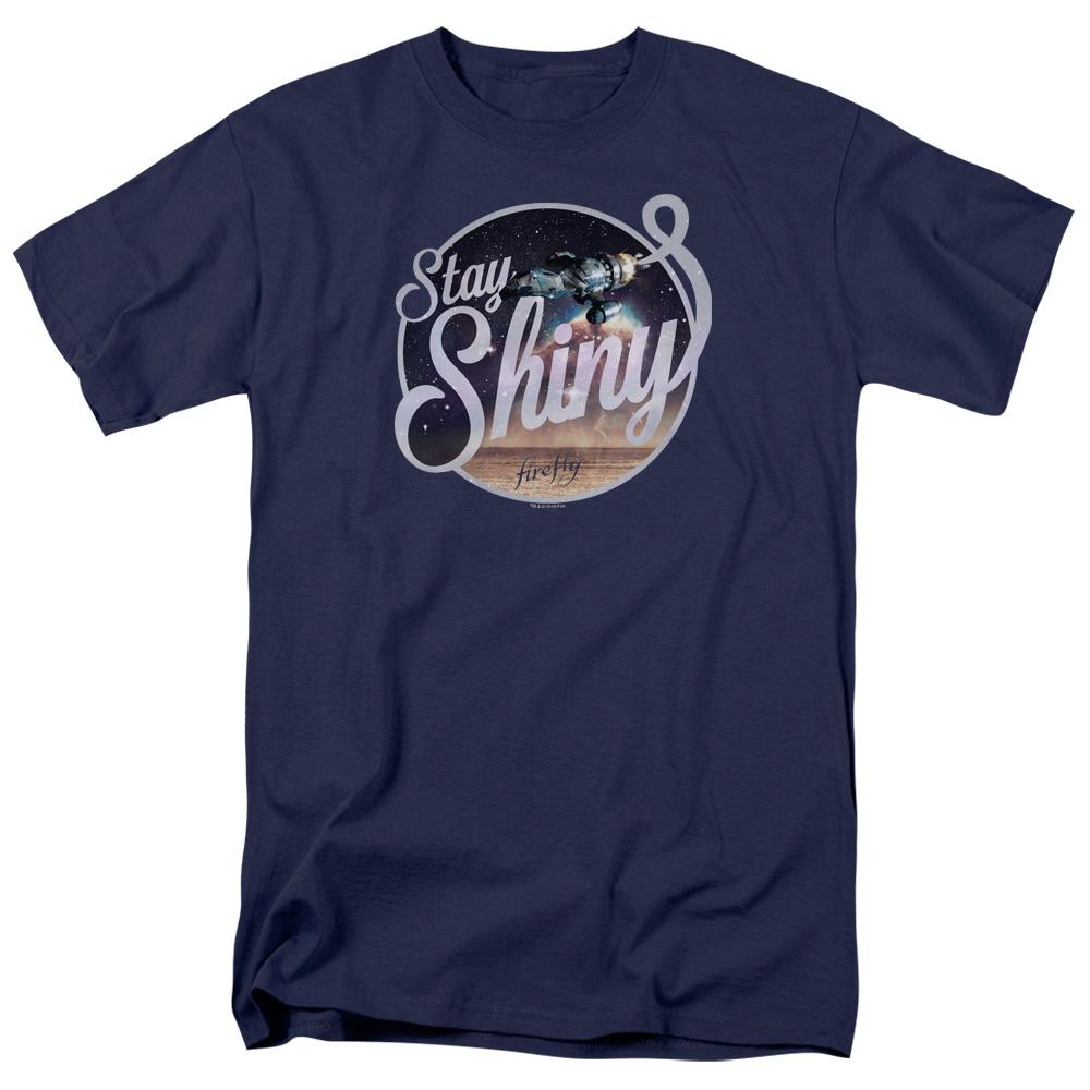 Firefly Stay Shiny Blue Sun Logo T-Shirt