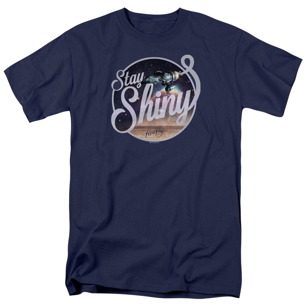 Firefly Stay Shiny Blue Sun Logo T-Shirt