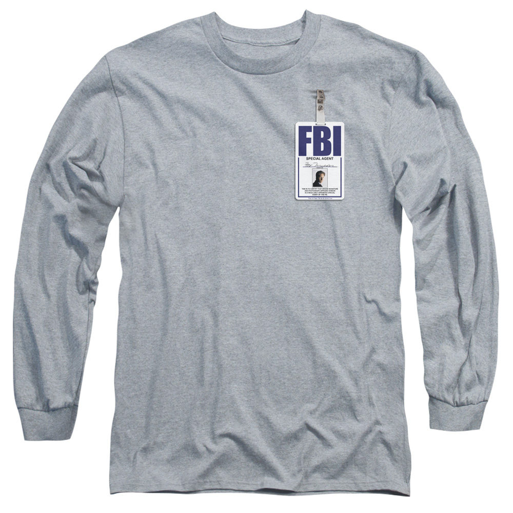 The X-Files - Mulder Badge Long Sleeve Shirt