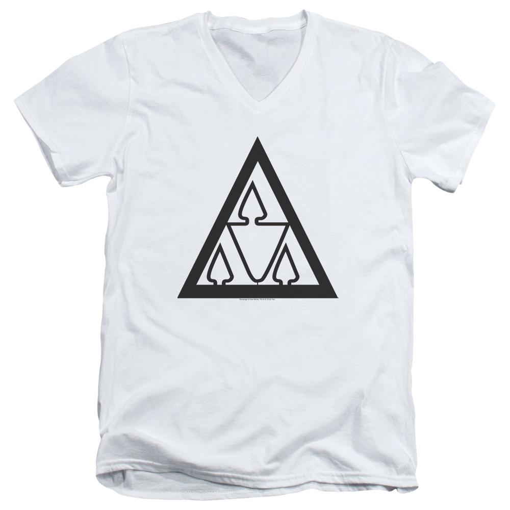 Revenge of the Nerds - Tri Lamb Logo V-Neck T-Shirt
