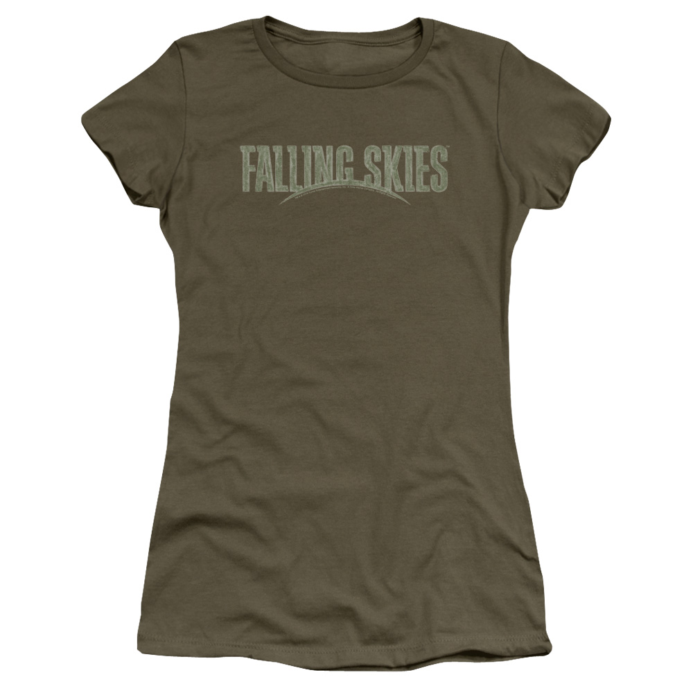 Falling Skies TV Show Distressed Logo Junior Fit T Shirt