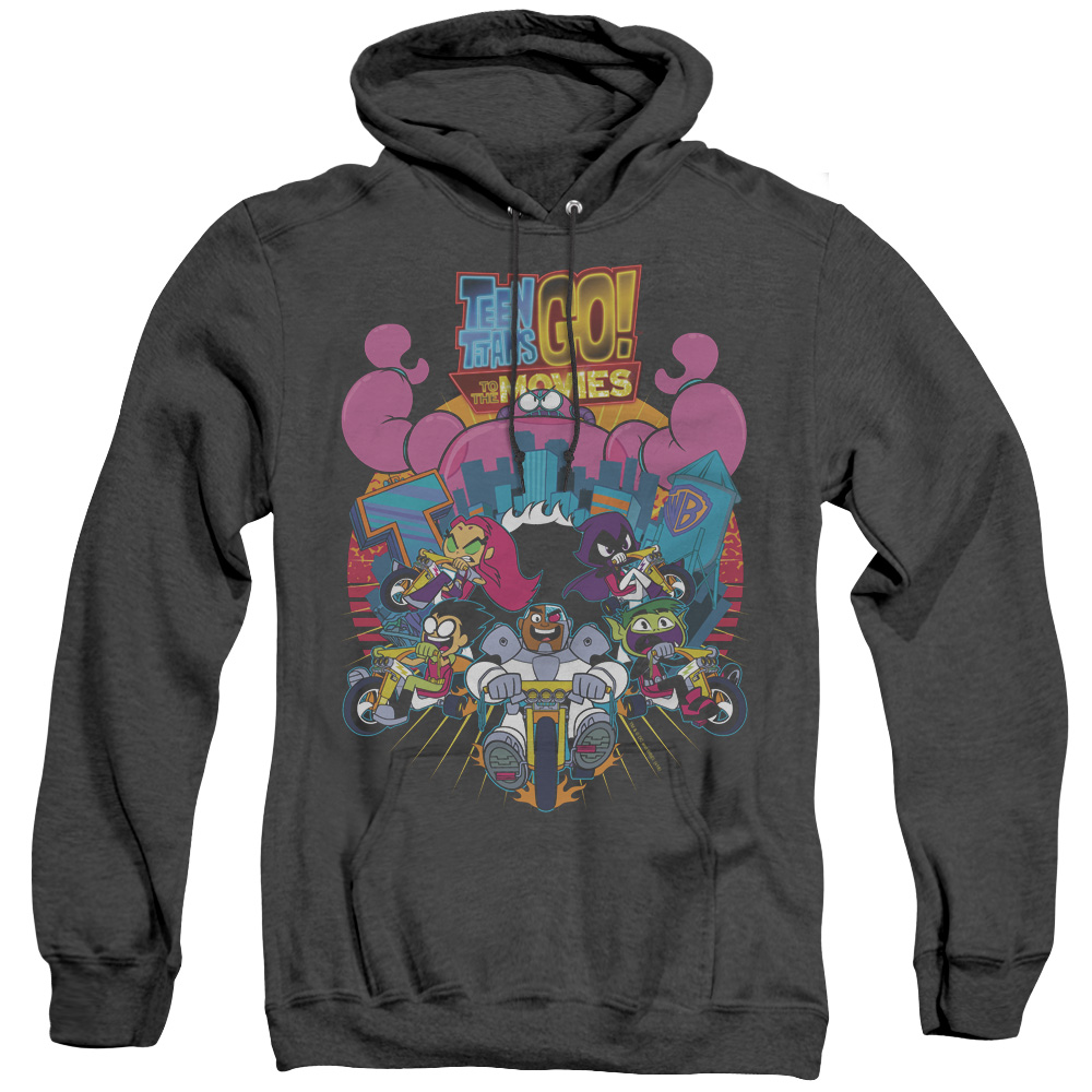 Teen Titans Go To The Movies Burst Through Adult Heather Hoodie
