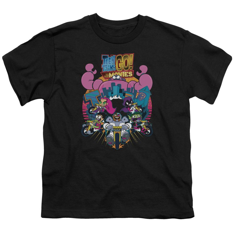 Teen Titans Go To The Movies Burst Through Kids T-Shirt