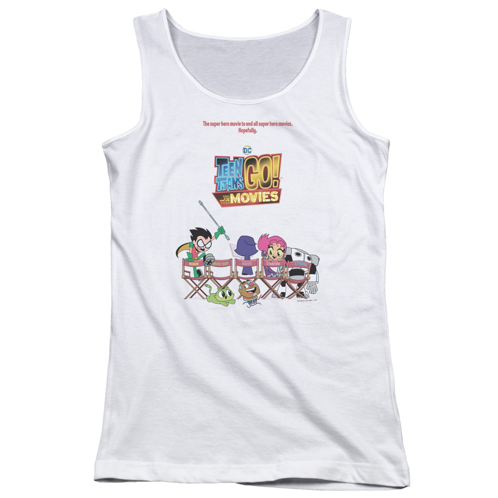 Teen Titans Go To The Movies Poster Juniors Tank Top