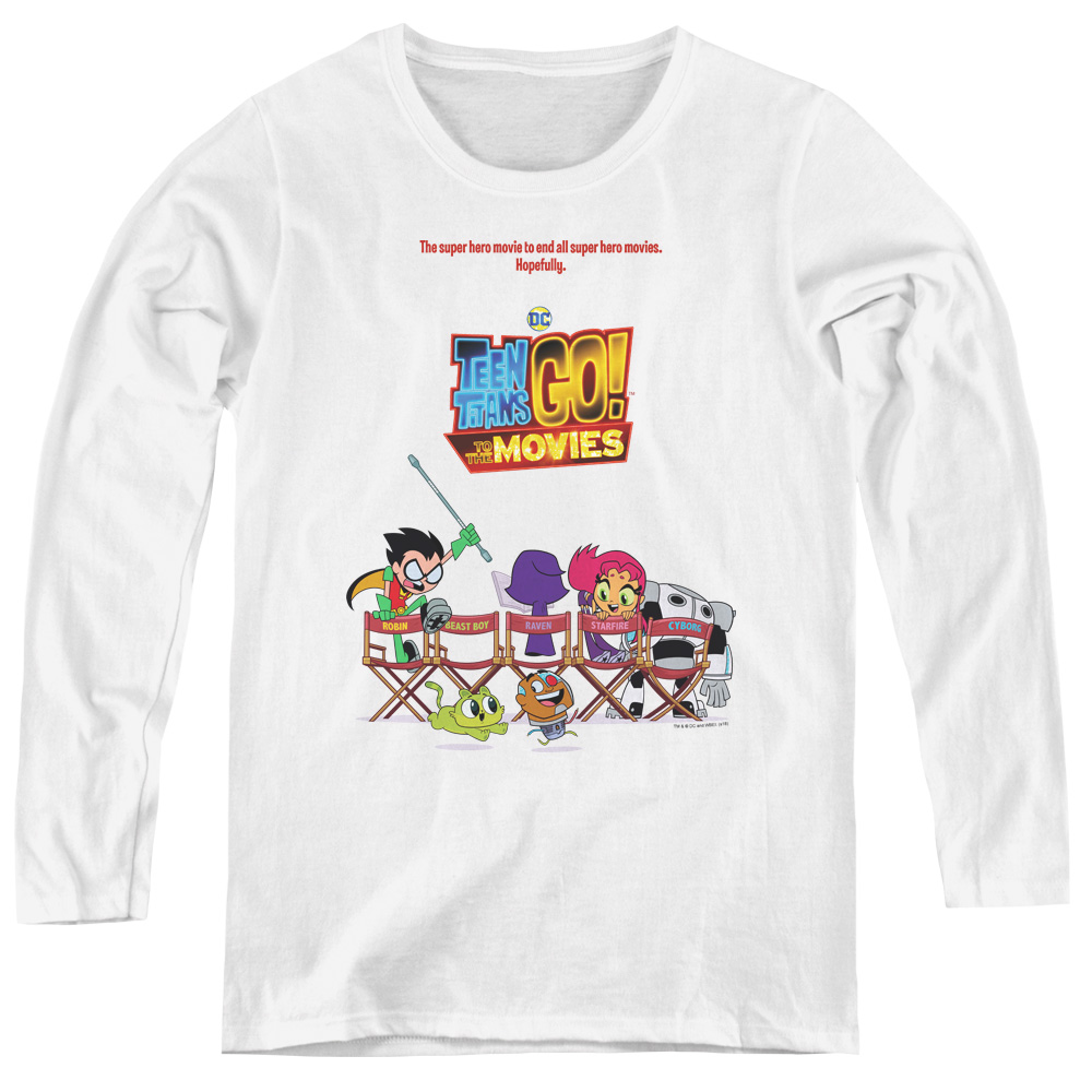 Teen Titans Go To The Movies Poster Women's Long Sleeve Shirt