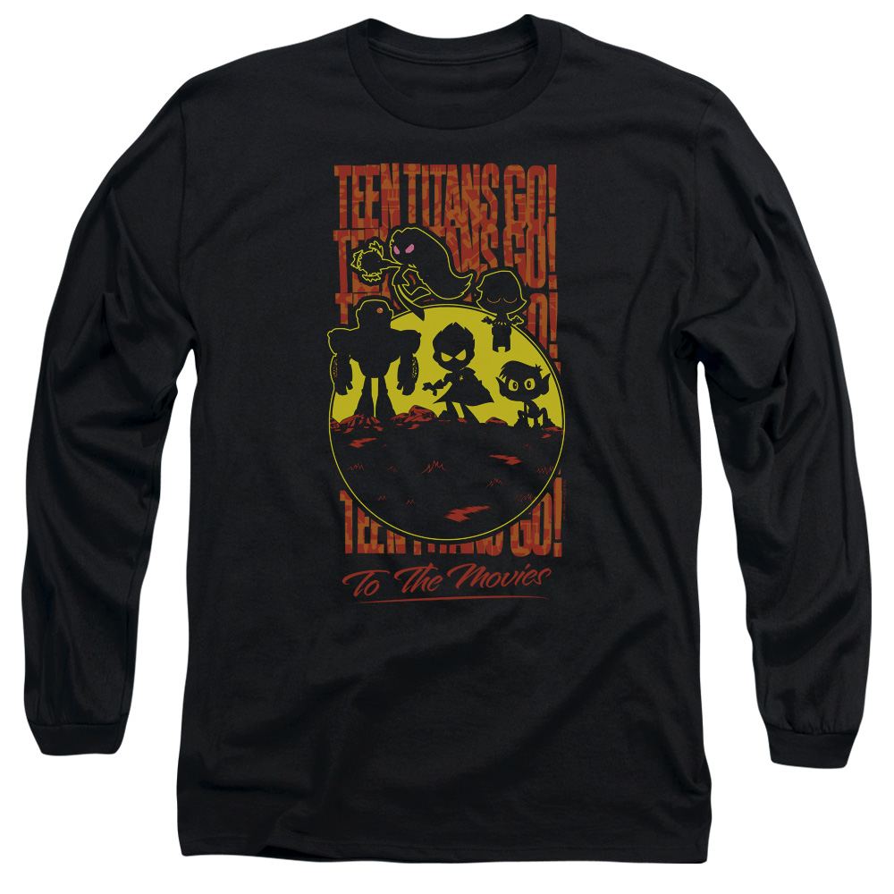 Teen Titans Go To The Movies Silhouette Long Sleeve Shirt