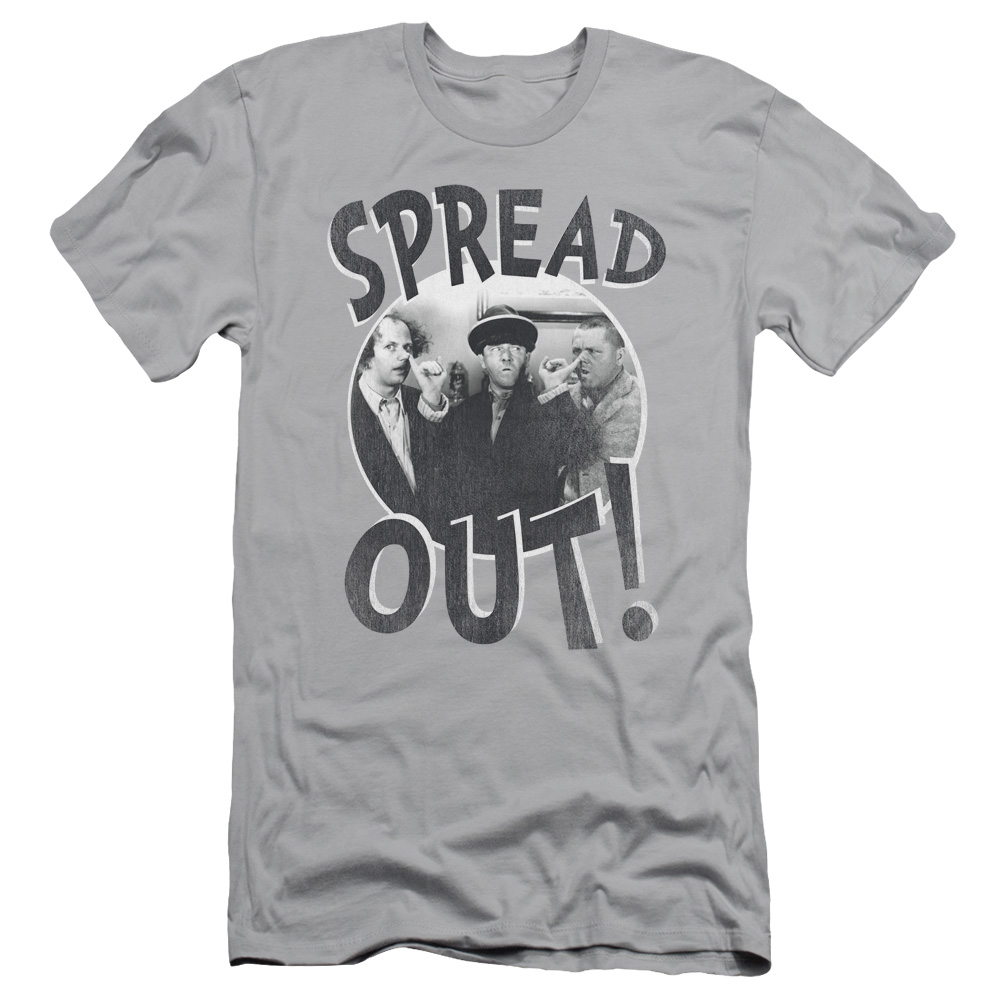 The Three Stooges Spread Out Slim Fit T-Shirt