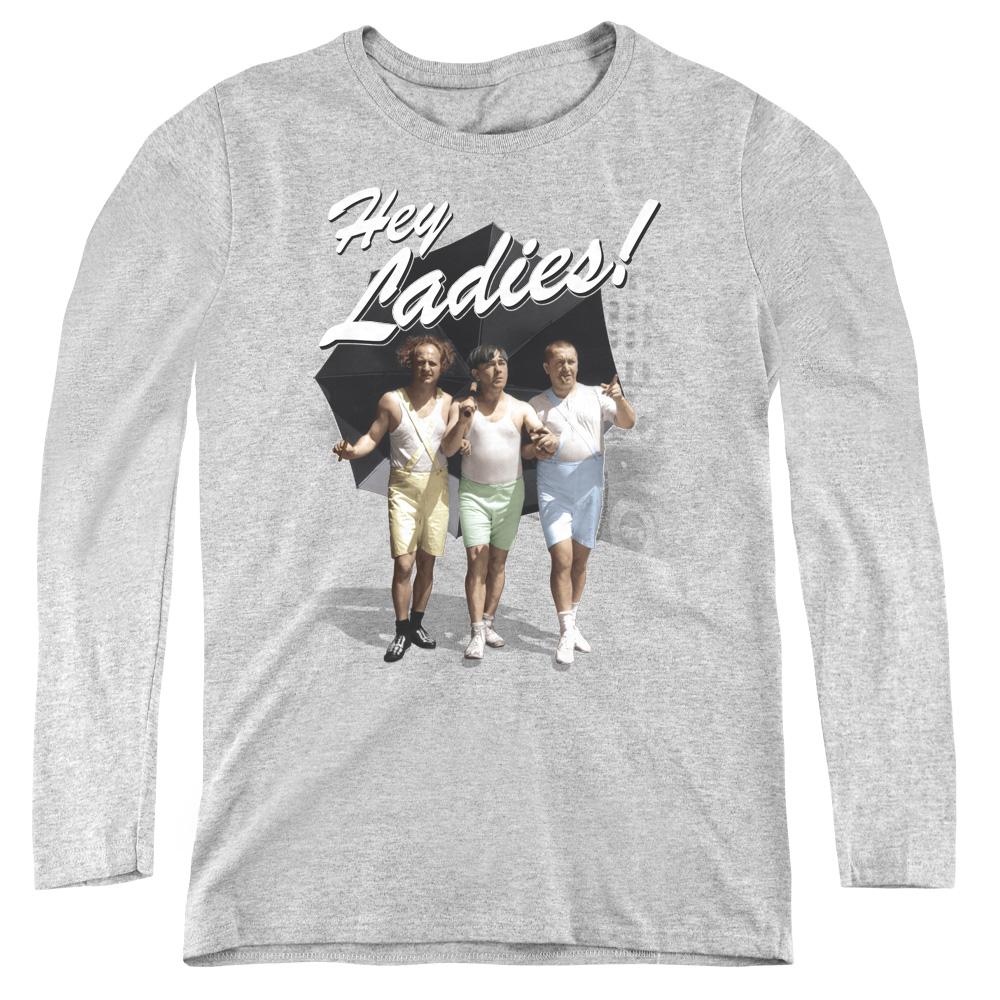 The Three Stooges Hey Ladies Women's Long Sleeve Shirt