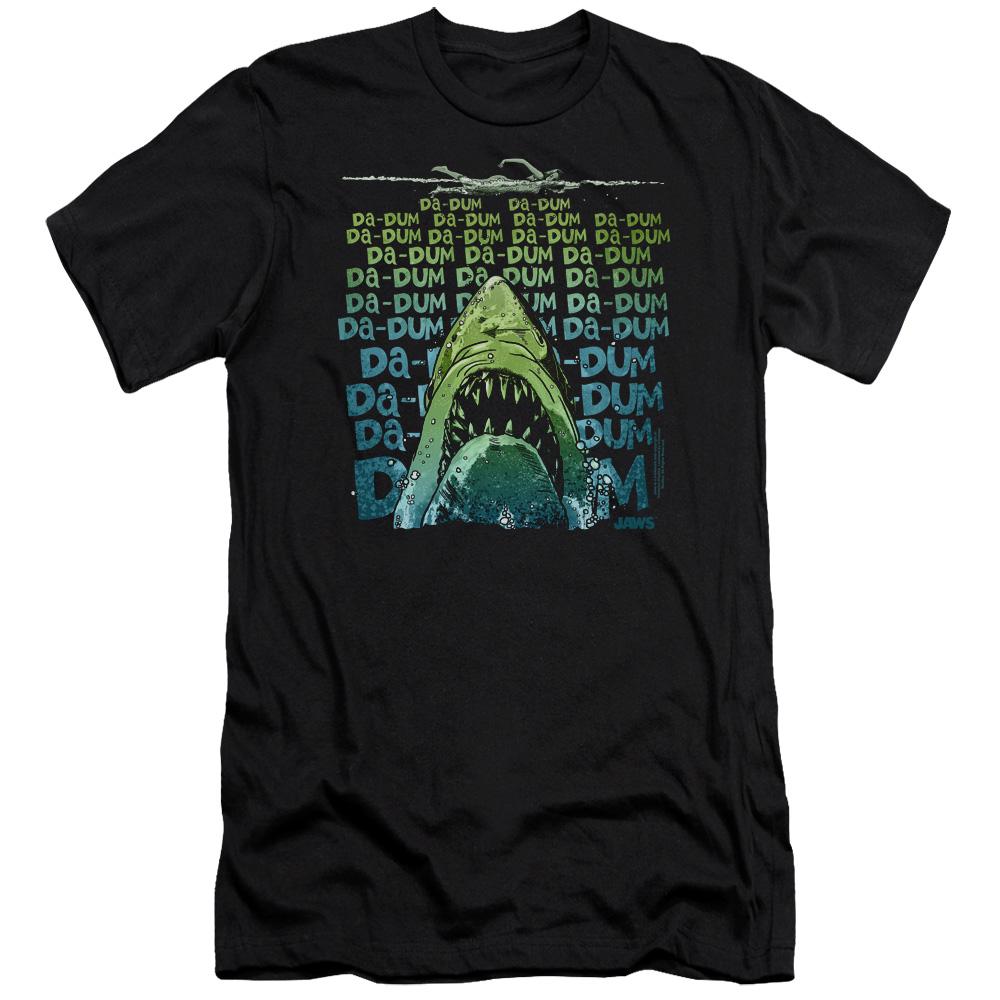 Jaws Movie Da Dum Slim Fit T-Shirt