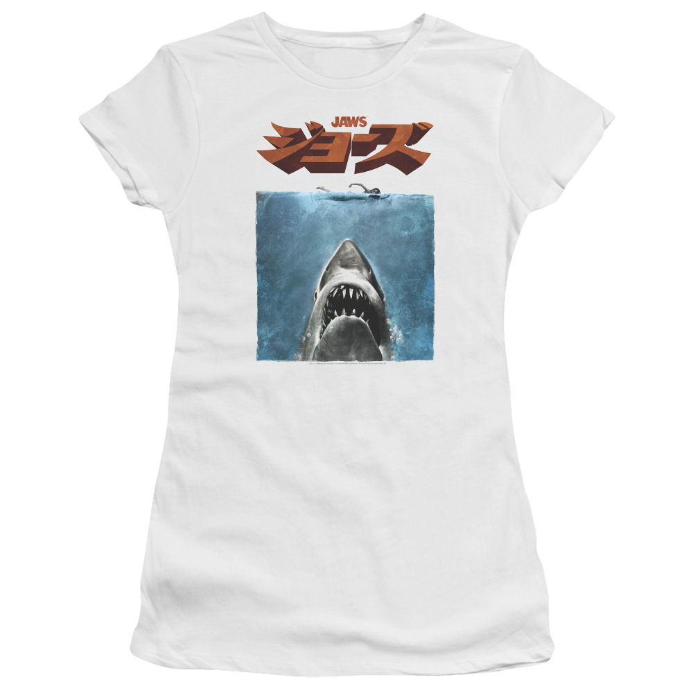 Jaws Japanese Poster Junior Fit T Shirt