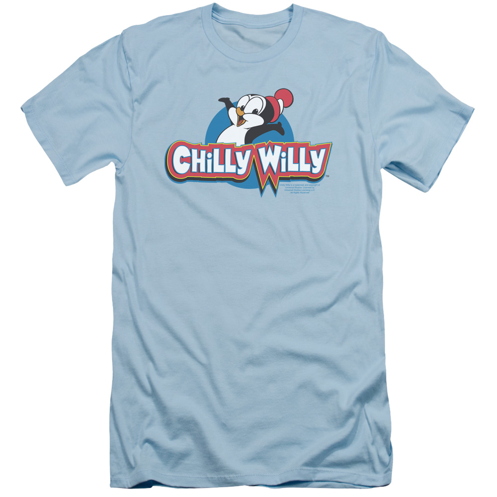 Chilly Willy Classic Penguin Logo Slim Fit T-Shirt