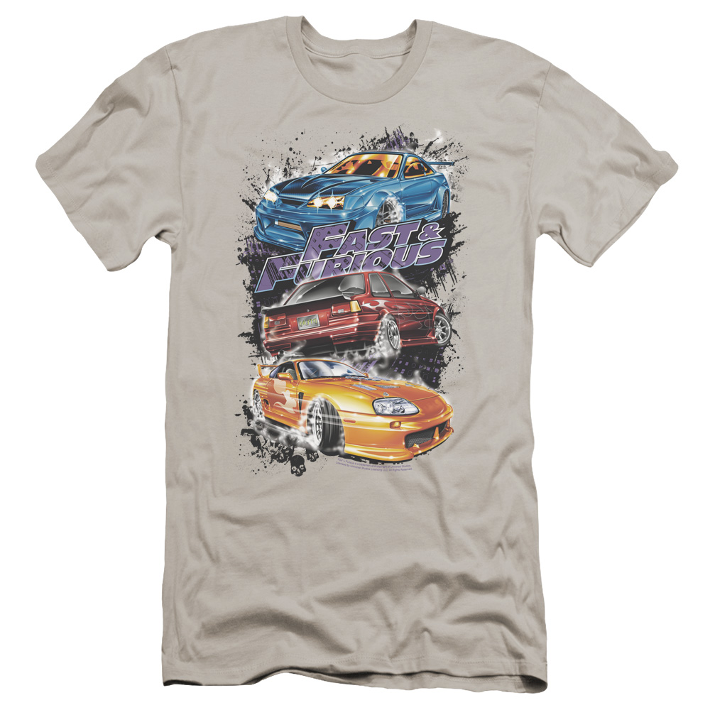 Fast and Furious Smokin Street Cars Premium Slim Fit T-Shirt